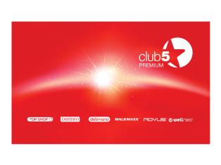 Картa лояльности Клуб 5* Premium Top Shop